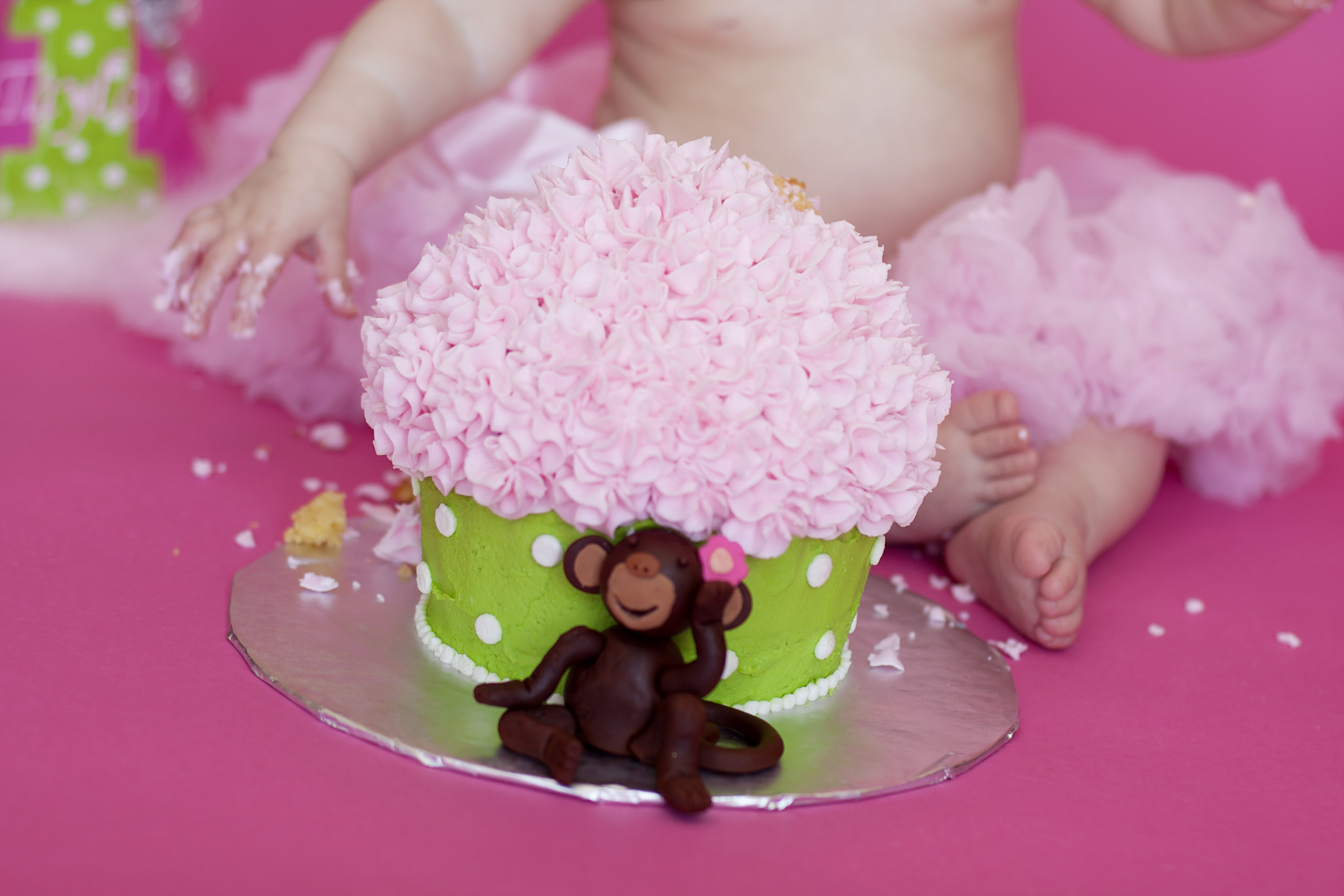 Miss T's Girlie Filled Fun Cake Smash | New Jersey Children's Photographer