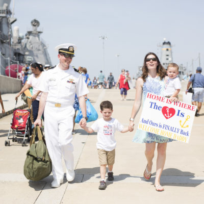 A Sweet Military Homecoming | Norfolk | Norfolk Family Photographer