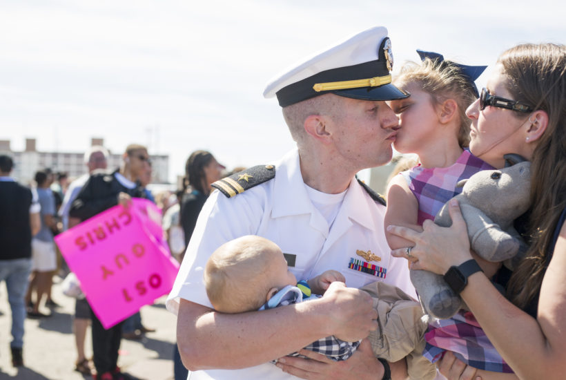 Homecomings Are Joy | Norfolk Military Homecoming | Norfolk Family Photographer